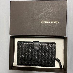 Bottega Veneta Intrecciato French Leather Wallet